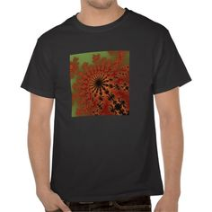 Customizable Autumn Fractal Burst Hanes Men's T-Shirt. Check this product out at www.zazzle.com/wonderart*