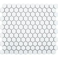 Gloss White Hexagon Tiles Toto Hexagon Mosaic Mosaic Tiles 300x260x5.2mm from Walls and Floors - Leading Tile Specialists - Over 20 Million ...