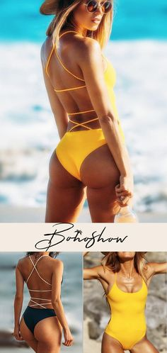 Backless Plain One-piece Swimwear Cool Outfits, Summer Outfits, Fashion Outfits, Women's Fashion, Street Fashion, Fashion Ideas, Fashion Jewelry, Summer Bathing Suits, Cute Bathing Suits