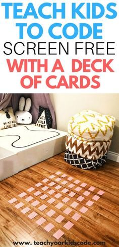 teach kids to code with a deck of cards