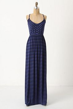 Anthropologie Equinox Stripe Maxi with crossed straps in the back #anthropologie #dress #maxi #stripes