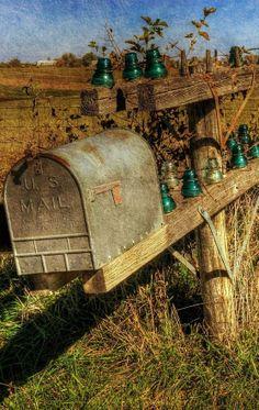 "Inspiration for my novel ""Promise"": mail box In Lancaster, Missouri"