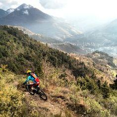 Mountain biking - Sospel, France in January. Photo: transprovence