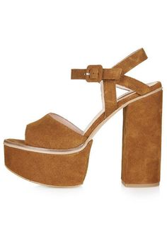 20 fashionable heels that will give any outfit a style boost.  Topshop Lilith Suede Chunky Sandals, $135; topshop.com