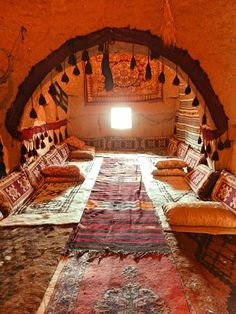 A beehive home living area in Harran, southeast Turkey