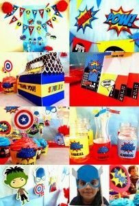 Ideas para fiesta de los Vengadores - Avengers Party - Curso de organizacion de hogar aprenda a ser organizado en poco tiempo
