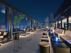 Straight Up roofdeck bar, outdoor area