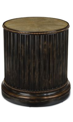 The drum, is formed from vertical concave moldings with carved beaded rings to… Table Furniture, Antique Furniture, Home Furniture, Furniture Design, Small Tables, End Tables, Side Coffee Table, Drum Table, Interiores Design