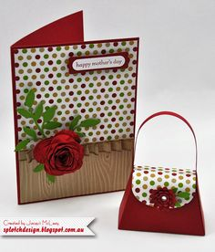 Splotch Design - Jacquii McLeay Independent Stampin' Up! Demonstrator: Mother's Day Card & Purse