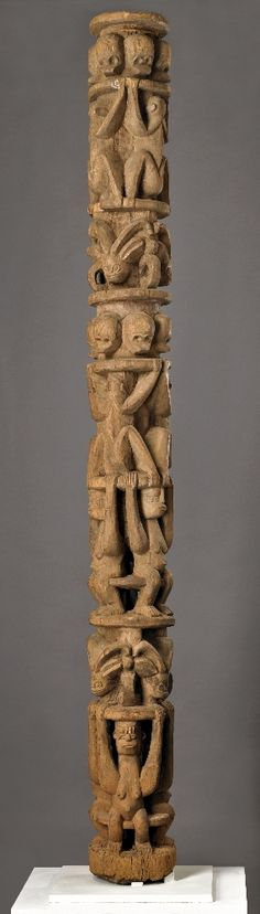 Africa | House post from the Igbo people of Nigeria | Wood | Late 19th to early 20th century