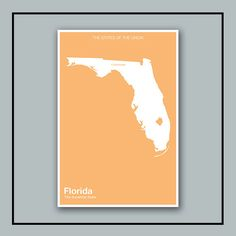 The Modern United States // Minimalist Florida Print by NeueModernPress, $20.00