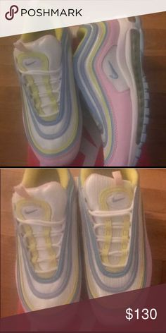 1734b70f34c80 NIKE EASTER EGG AIR MAX 97 SIZE 8.5 IN WOMENS THEY RUN KIND OF SMALL SO