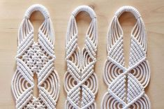 Knotting a series of these plant hangers for my sweet cousin in Norway. Can you guess which design is new?