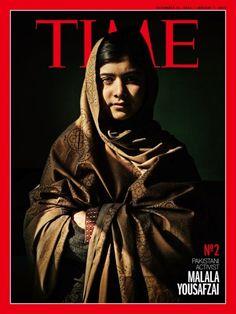 Malala na capa da Time: uma das pessoas mais influentes do mundo (Foto: Reprodução)