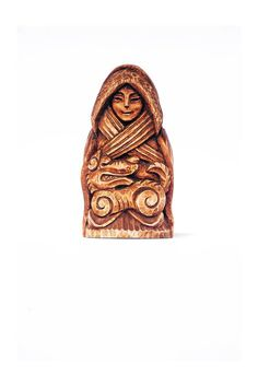Skadi statuette hand made from Linden. Norse Goddess, Goddess Art, Norse Mythology, Viking Queen, Pagan Art, Deer Antlers, Book Of Shadows, Indian Art, Wiccan