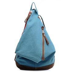 Cute Triangle Canvas Backpack ( 5 Colors Available)