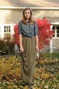 ANOTHER outfit making me wish I could pull off a maxi skirt without looking like godzilla!