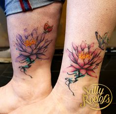 best friends tattoo done by tattoo artist Sally Roelofs Best Friend Tattoos, Sally, Tattoo Artists, Watercolor Tattoo, Ink, Friends, Flowers, Amigos, India Ink