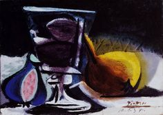 """Pablo Picasso - """"Still life with glass"""", 1937"""