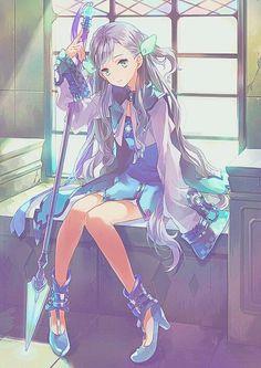 Imagen de anime, anime girl, magic, witch, and kawaii