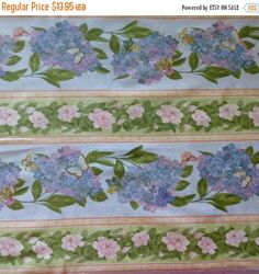 Clearance SALE Cotton Fabric , Quilt Fabric, Home Decor, Floral, Hydrangea Radiance, Wilmington Prints, Fast Shipping