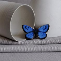 Handmade intricate blue emperor wooden butterfly brooch from ArtySmartyShop.com is €12.95. It has a hinged pin back has been carefully cut from wood with avibrant, rich blueon her wings. The brooch has an aluminium hinged pin back to attach to your lapel, hat or bag. from ArtySmartyShop.com  #artysmarty #jewelry #lady #fashion #accessories Bold Fashion, Blue Butterfly, Handcrafted Jewelry, Vintage Inspired, Fashion Accessories, Women Jewelry, Emperor, Brooch, Butterflies
