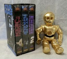 Star Wars Trilogy VHS Box Set 1995 Last Origial Version Release + CP30 Doll