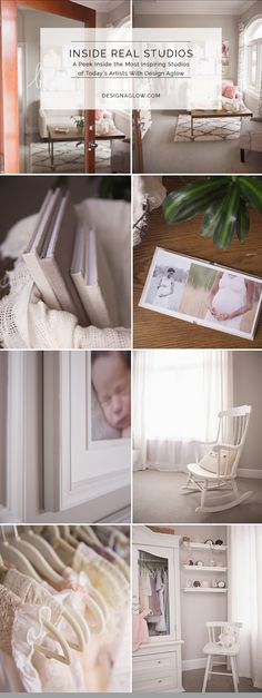 "Inside the Newborn Photography Studio Be True Image Design. ""The Be True studio is our brand come to life: natural and eco-friendly with just the right touch of sparkle. It is elegant and refined with organic elements featured throughout."""