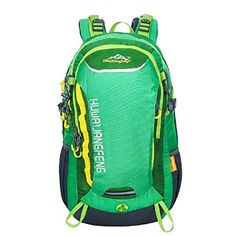 40L Water Repellent Backpack Hiking Backpacks Men Women Camping Backpack--Green * Find out more about the great product at the image link.