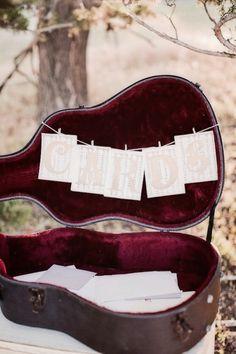 Guitar Wedding Gift~Card Case