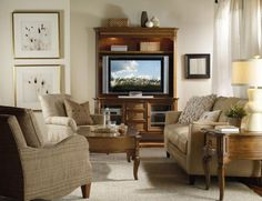 In most homes, the entertainment center is the focal point in the family room or living room. That's where the family gathers to watch movies or enjoy their favorite TV shows together. Finding the right entertainment center can be a challenge, so we've pulled together some tips to make your search easier.