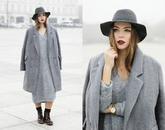 Get this look: http://lb.nu/look/7930514  More looks by Dominique B.: http://lb.nu/goldschnee  Items in this look:  Marc Aurel Coat, Loevenich Hat   #casual #minimal #street #winter #streetstyle #fog #warsaw