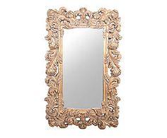 Set di 3 tavolini in metallo e specchio Olimpe - max 65x53x35 cm ...