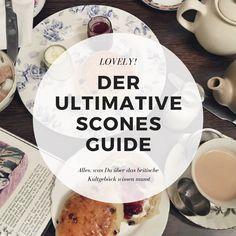 Scone des Monats: Rharbarber Scones ~ A decent cup of tea Clotted Cream, High Tea, Bread Baking, Tea Cups, Bakery, British, Sweets, England, London