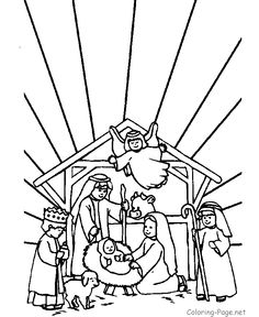 Christian Nativity Coloring Pages bible three kings coloring