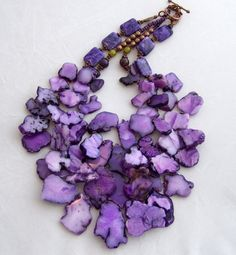 sliced purple agate stone necklace