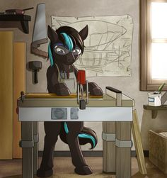 Commission: Thunder Blitz's Workshop by MykeGreywolf
