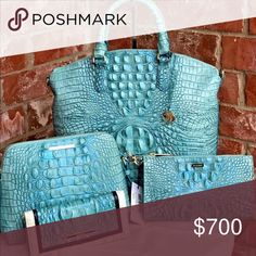 3ad58b595779 SOLD Brahmin 4 Piece Handbag and Wallets Set NWT Gorgeous and brand new  with tags Brahmin