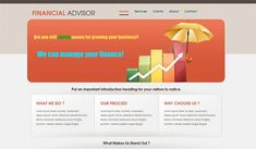 25 Free and Premium Financial Website Templates
