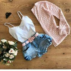 Teen Fashion Outfits, Look Fashion, Stylish Outfits, Cool Outfits, Cute Summer Outfits, Short Outfits, Casual Shorts Outfit, Autumn Fashion 2018, Outfit Goals