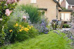 Doorkijkje naar terras. Tuinontwerp: De Tuinregisseurs. Plants, Garden