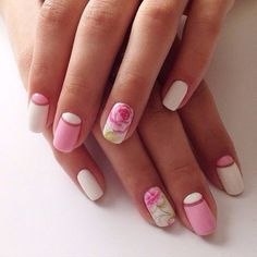 Flowers bloom the best when summer is around the corner. Why not let them bloom on your nails with this pink themed and floral inspired nail art design. It's fresh and cute, perfect for summer.