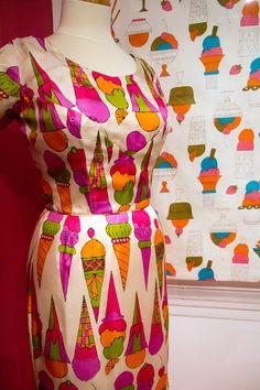 Andy Warhol ice cream textile