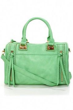 eeabaf0dca If your fantasies are filled with visions of gorgeous purses, then wake up  and smell the Brogue-in' Dreams Mint Handbag by Urban Expressions!