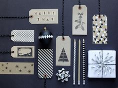 Black and white Christmas Stylist: Charlotte Love Photographer: Lenka Rayn H Products from Papermash