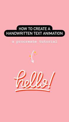 Inkscape Tutorials, Art Tutorials, Illustrator Tutorials, Procreate Tutorial, Keep On Keepin On, Handwritten Text, Cursive Letters, Text Animation, Ipad Art