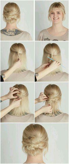 Easy updo for short hair