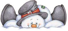 *SNOWMAN, this would make a cute appliqué block