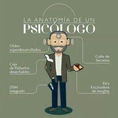 la anatomía de un #psicólogo #psicología