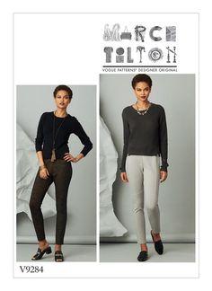 Vogue Patterns Sewing Pattern Misses' Seam-Detail Knit Pants-OSZ, Multicolor Structured Dress, Soft Gamine, Vogue Sewing Patterns, Sewing Stitches, Knitting Patterns, Soft Pants, Flamboyant, Pull On Pants, Pants Pattern